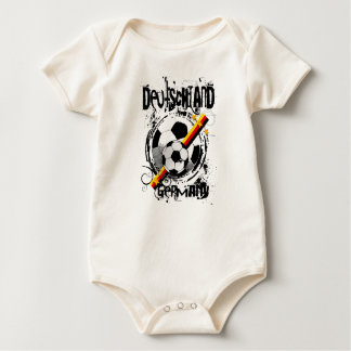 Camisetas y regalos puros del fútbol de Alemania Mamelucos De Bebé