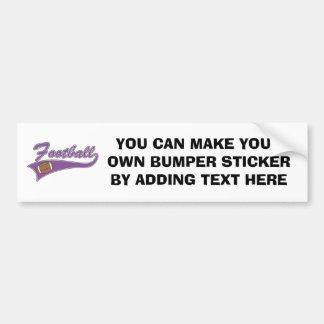 Camisetas y regalos púrpuras del fútbol del equipo pegatina para auto