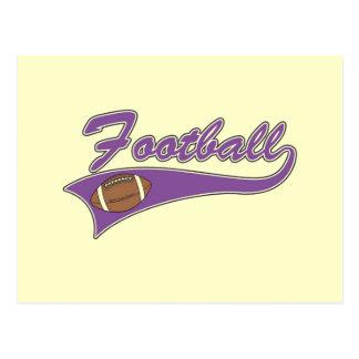 Camisetas y regalos púrpuras del fútbol del equipo postal