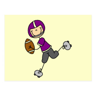 Camisetas y regalos púrpuras del futbolista postal