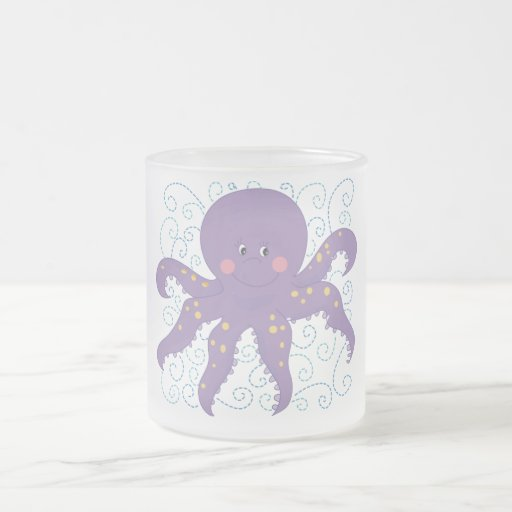 Camisetas y regalos púrpuras del pulpo taza de café