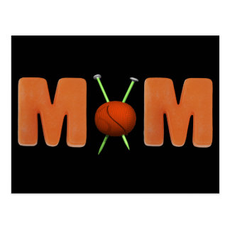 Camisetas y regalos que hacen punto para la mamá tarjeta postal