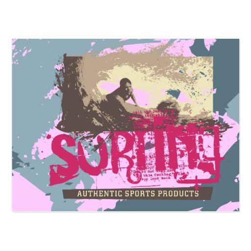 Camisetas y regalos que practican surf auténticos tarjeta postal