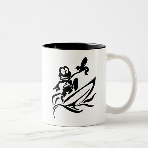 Camisetas y regalos que practican surf del tipo de tazas de café