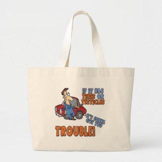Camisetas y regalos reales del problema para ella bolsas de mano