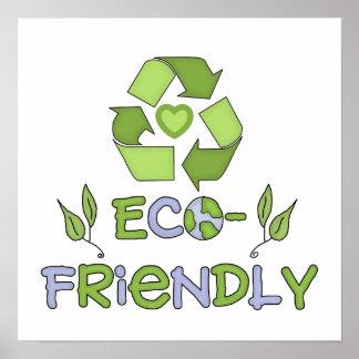 Camisetas y regalos respetuosos del medio ambiente póster