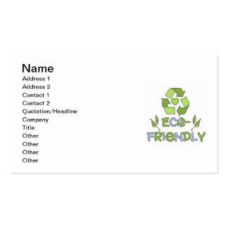 Camisetas y regalos respetuosos del medio ambiente tarjeta de visita