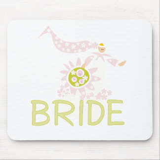 Camisetas y regalos retros de la novia tapetes de ratón