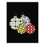 Camisetas y regalos retros de las bolas del navida membrete personalizado