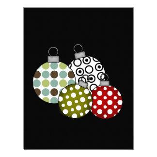 Camisetas y regalos retros de las bolas del navida plantilla de membrete