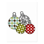 Camisetas y regalos retros de las bolas del navida tarjetas postales