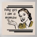Camisetas y regalos retros de Memaw Impresiones