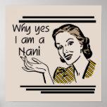 Camisetas y regalos retros de Nani Poster
