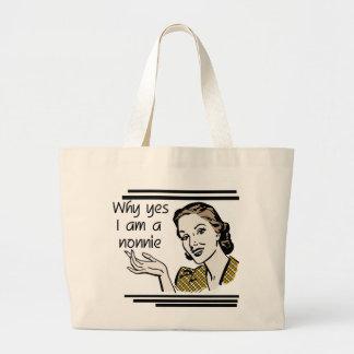 Camisetas y regalos retros de Nonnie Bolsa Lienzo