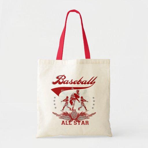 Camisetas y regalos rojos de All Star del béisbol Bolsas De Mano