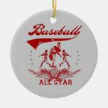 Camisetas y regalos rojos de All Star del béisbol Adorno De Reyes
