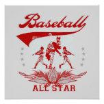 Camisetas y regalos rojos de All Star del béisbol Invitaciones Personales