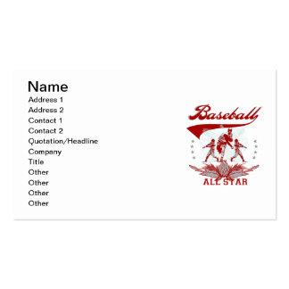 Camisetas y regalos rojos de All Star del béisbol Plantillas De Tarjetas Personales