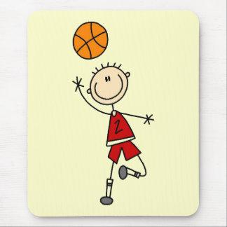 Camisetas y regalos rojos del baloncesto de los mousepad