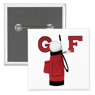 Camisetas y regalos rojos del golf de la bolsa de pins