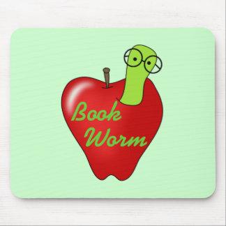 Camisetas y regalos rojos del gusano de libro de A Tapetes De Ratones