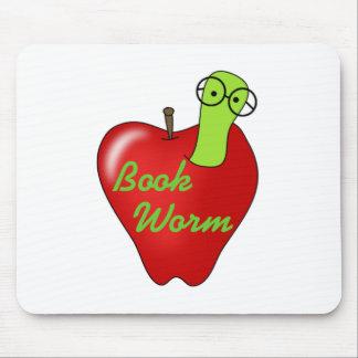Camisetas y regalos rojos del gusano de libro de A Mousepad