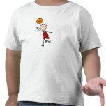 Camisetas y regalos rojos del jugador de básquet