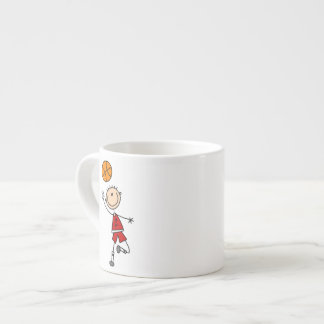 Camisetas y regalos rojos del jugador de básquet d taza espresso