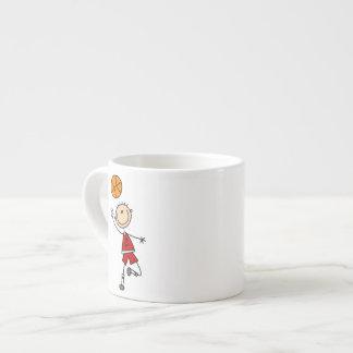 Camisetas y regalos rojos del jugador de básquet d tazas espresso