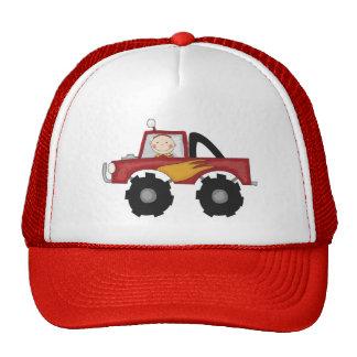 Camisetas y regalos rojos del monster truck gorras