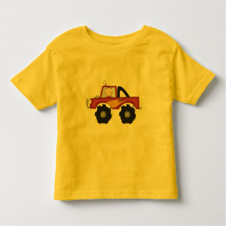 Camisetas y regalos rojos del monster truck remera