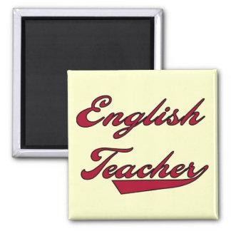 Camisetas y regalos rojos del profesor de inglés iman
