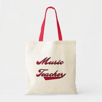 Camisetas y regalos rojos del profesor de música bolsa tela barata