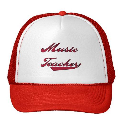 Camisetas y regalos rojos del profesor de música gorra