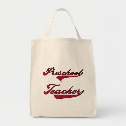 Camisetas y regalos rojos del texto del profesor p bolsa de mano