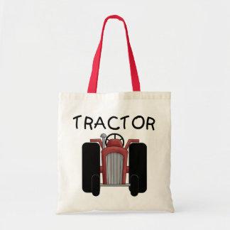 Camisetas y regalos rojos del TRACTOR Bolsas