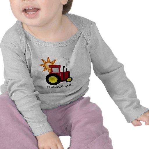 Camisetas y regalos rojos del tractor de granja