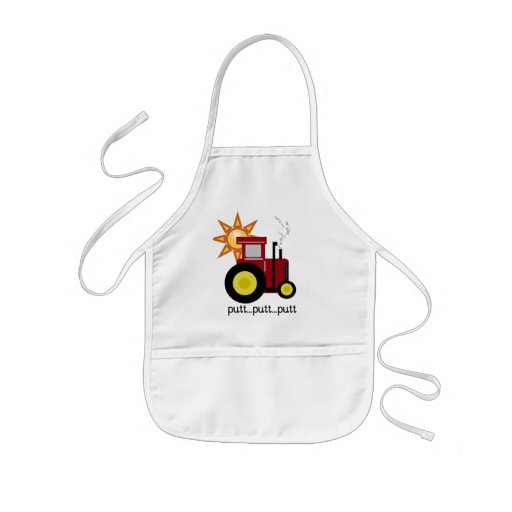 Camisetas y regalos rojos del tractor de granja delantales