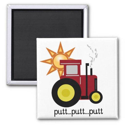 Camisetas y regalos rojos del tractor de granja imanes para frigoríficos
