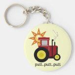 Camisetas y regalos rojos del tractor de granja llaveros personalizados