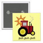 Camisetas y regalos rojos del tractor de granja pin