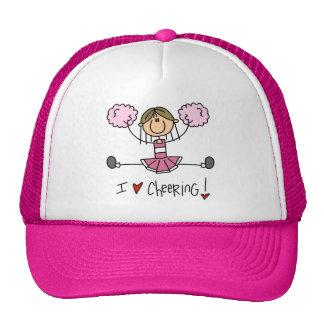 Camisetas y regalos rosados de la animadora gorro