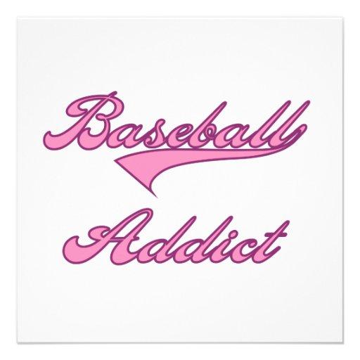 Camisetas y regalos rosados del adicto al béisbol anuncios