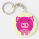 Camisetas y regalos rosados del cerdo llaveros personalizados