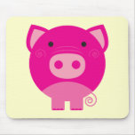 Camisetas y regalos rosados del cerdo tapetes de raton