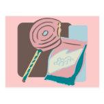 Camisetas y regalos rosados del Lollipop Tarjetas Postales