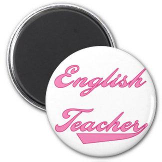 Camisetas y regalos rosados del profesor de inglés imán