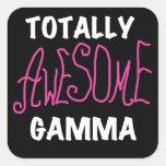 Camisetas y regalos rosados gammas totalmente impr pegatinas cuadradases personalizadas