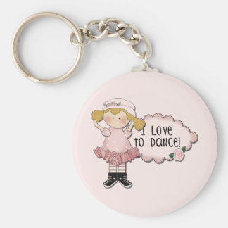 Camisetas y regalos rubios del bailarín del chica llavero redondo tipo pin