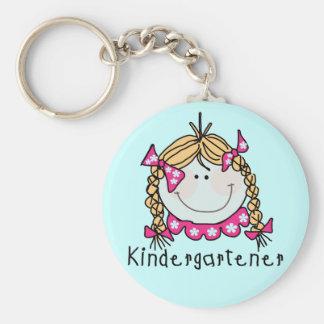 Camisetas y regalos rubios del Kindergartener del  Llavero Personalizado